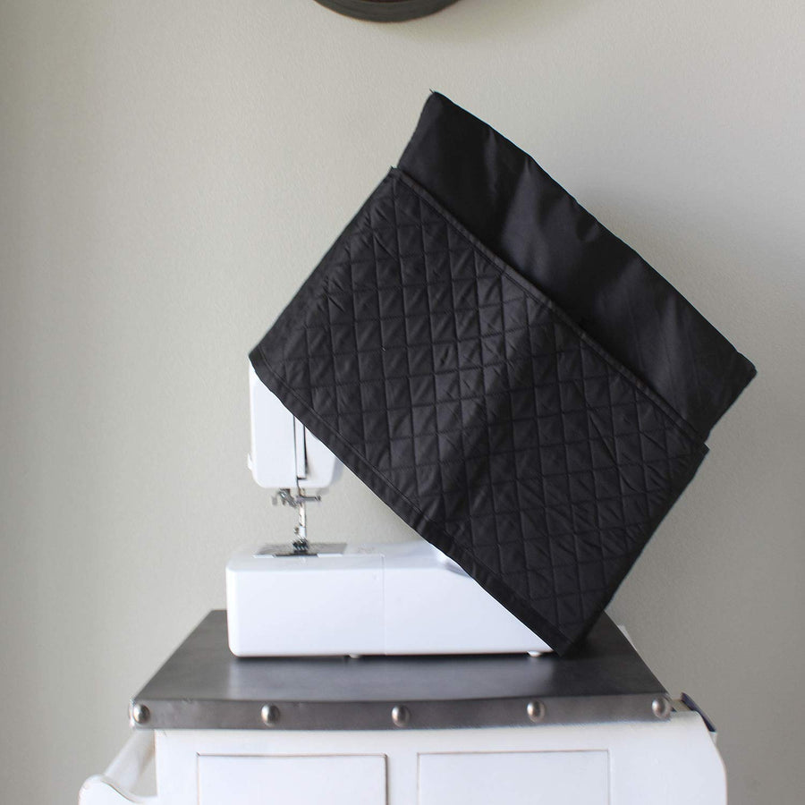 Sewing Machine Dust Cover, Black Quilted