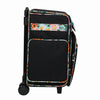 Rolling Scrapbook Travel Case w/ Locking Handle, Black & Floral