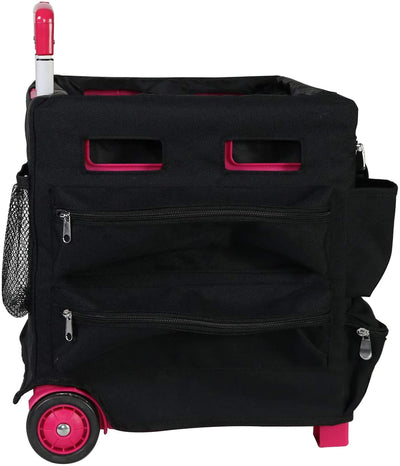 Everything Mary Collapsible Cart Organizer Pockets Cover, Black