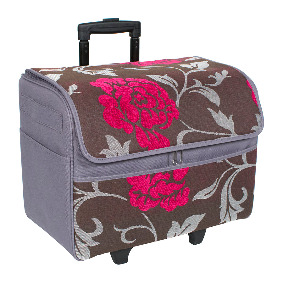Dome Top Tapestry Rolling Sewing Tote