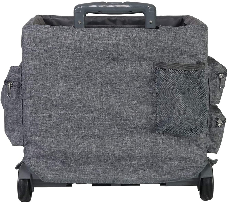 Everything Mary Collapsible Cart Organizer Pockets Cover, Grey
