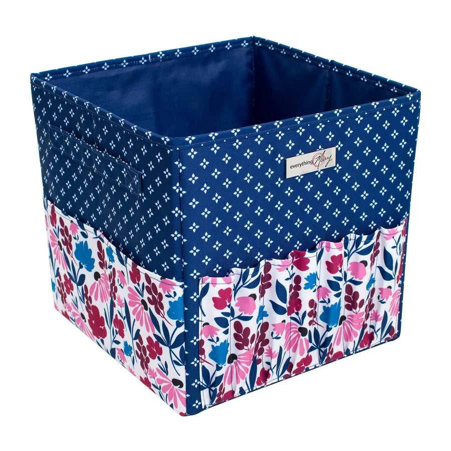 Square Yarn Project Caddy | Pink & Blue