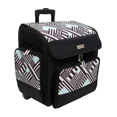 Deluxe Scrapbook Rolling Travel Case