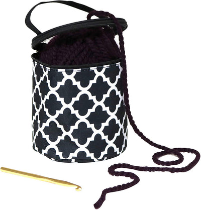 Small Crush Yarn Case - Sewing & Knitting Drum Holder Storage Organizer - Stores Single Yarn Skein Ball