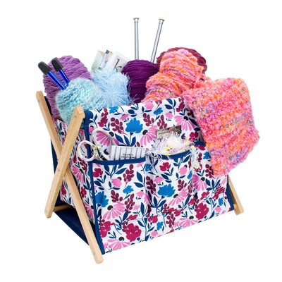 Fold-Up Knitting & Yarn Storage Caddy