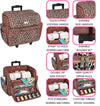 Deluxe Rolling Sewing Case, Cheetah
