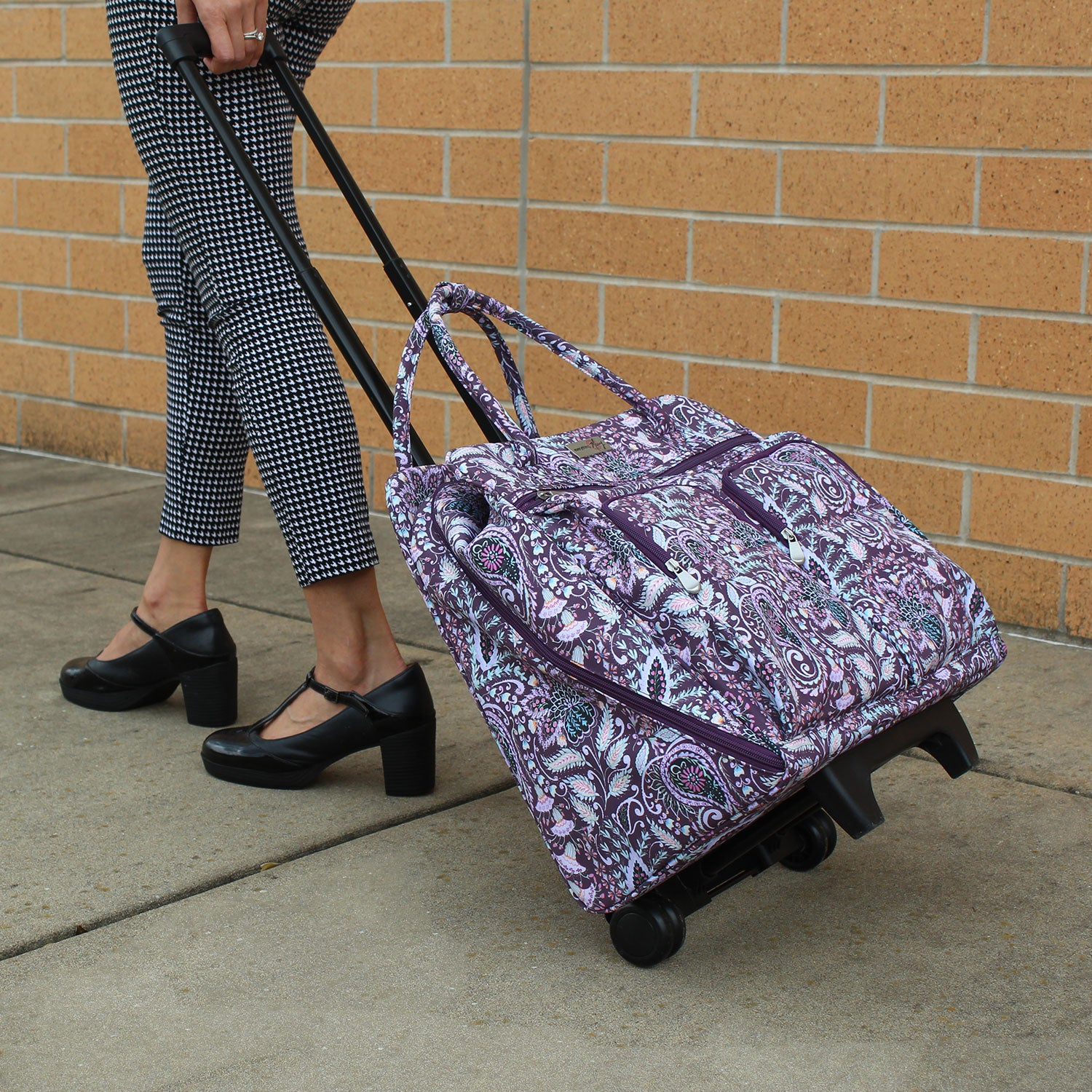 Deluxe Rolling Sewing Case Floral Design By Dena Fishbein
