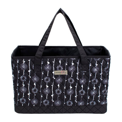Sewing Machine Carry Tote, Black & White