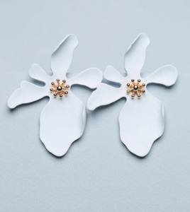 Zafino - Large Orchid Earrings