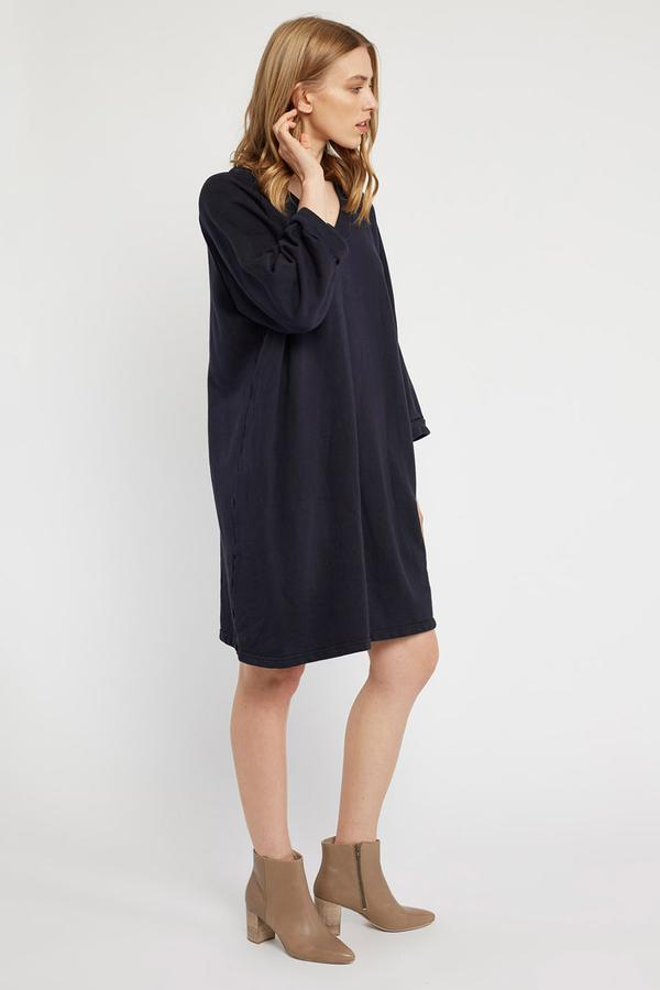 Primness - Lotus Raglan Dress -Noir