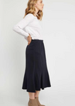 Primness lotus skirt / dark navy