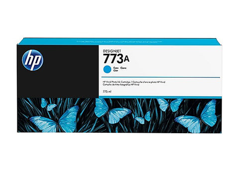 HP 773A (C1Q26A) Cyan Designjet Ink Cartridge (775 ml)