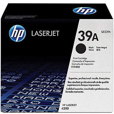 HP HP 39A (Q1339A) LaserJet 4300 Black Original LaserJet Toner Cartridge (18000 Yield)