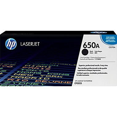 HP 650A (CE270A) Black Original LaserJet Toner Cartridge (13500 Yield)