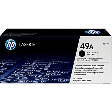 HP 49A (Q5949A) LaserJet 1160 1320 3390 Black Original LaserJet Toner Cartridge (2500 Yield)