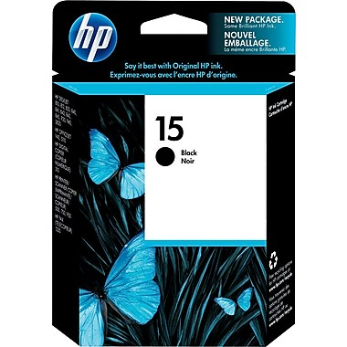 HP 15 (C6615DN) Black Original Ink Cartridge (500 Yield)