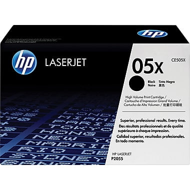 HP 05X (CE505X) LaserJet P2055 High Yield Black Original LaserJet Toner Cartridge (6500 Yield)