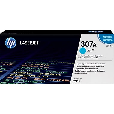 HP 307A (CE741A) Color LaserJet CP5225 Cyan Original LaserJet Toner Cartridge (7300 Yield)