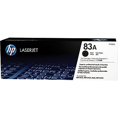 HP HP 83A (CF283A) Black Original LaserJet Toner Cartridge (1500 Yield)