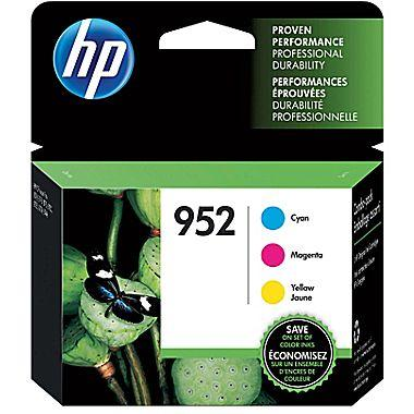 HP HP 952 (N9K27AN) Cyan/Magenta/Yellow Original Ink Cartridges 3-Pack (3 x 700 Yield)