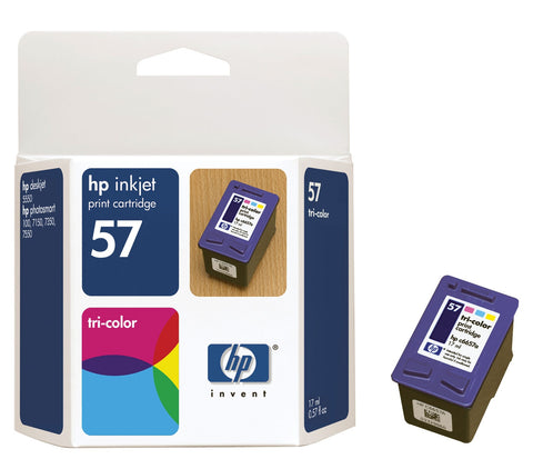 HP HP 57 (C6657AN) Tri-Color Original Ink Cartridge (500 Yield)