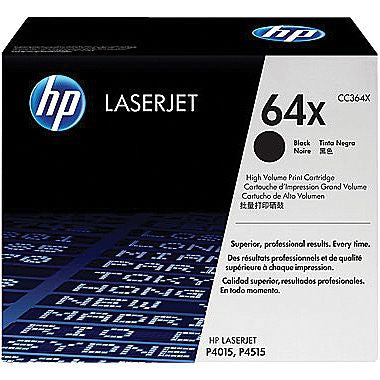 HP 64X (CC364X) Black Original LaserJet Toner Cartridge (24000 Yield)