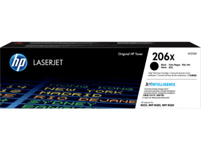 HP 206X High Yield Black Original LaserJet Toner Cartridge (3,150 Yield)