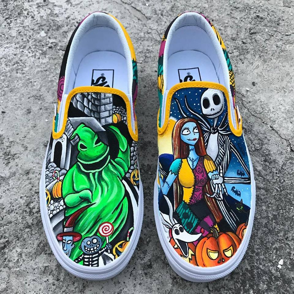 a7728b180d The Nightmare before Christmas hand painted Vans – Kv Art