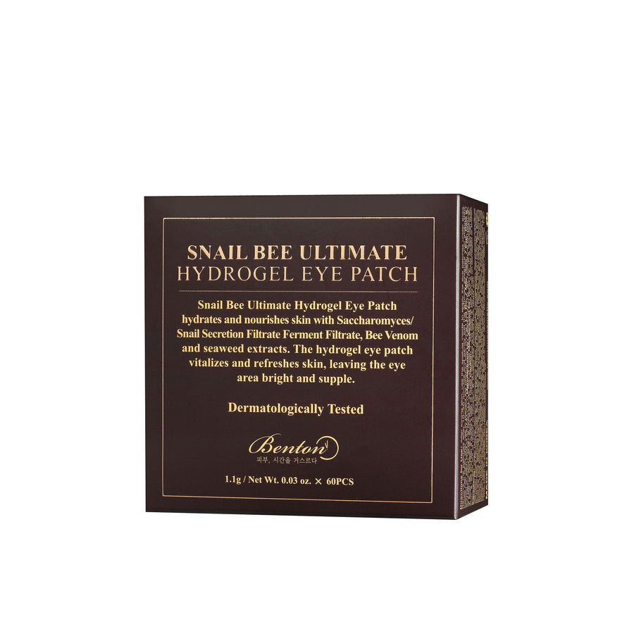 Benton Snail Bee Ultimate Hydrogel Eye Patch 60pcs - Kosame Beauty