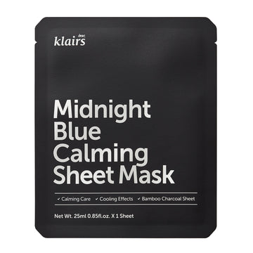 Klairs Midnight Blue Calming Sheet Mask 25ml - Kosame Beauty