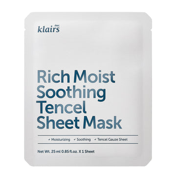 Klairs Rich Moist Soothing Tencel Sheet Mask 25ml - kosamebeauty