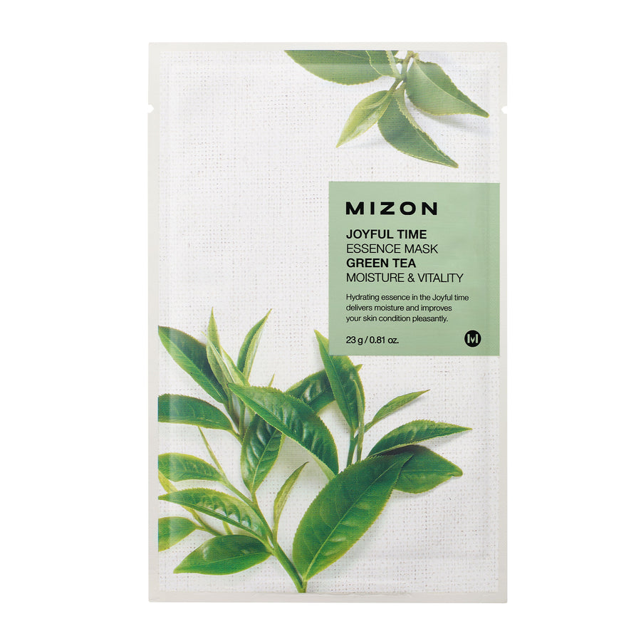 Mizon Joyful Time Essence Green Tea Sheet Mask 23g - Kosame Beauty