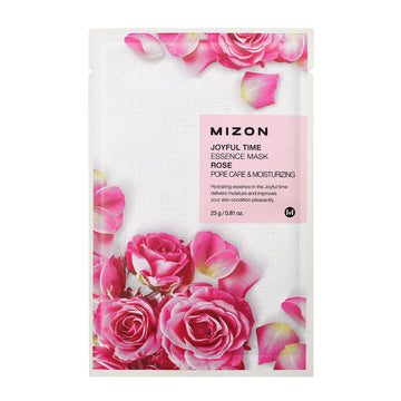 Mizon Joyful Time Essence Rose Sheet Mask 23g - kosamebeauty