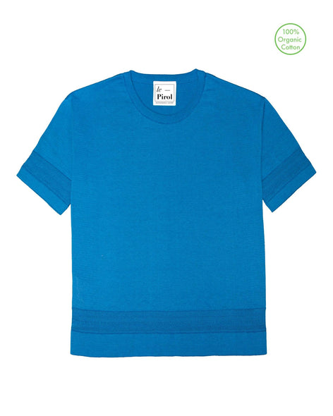 Moonlight Cotton T-Shirt - Blue