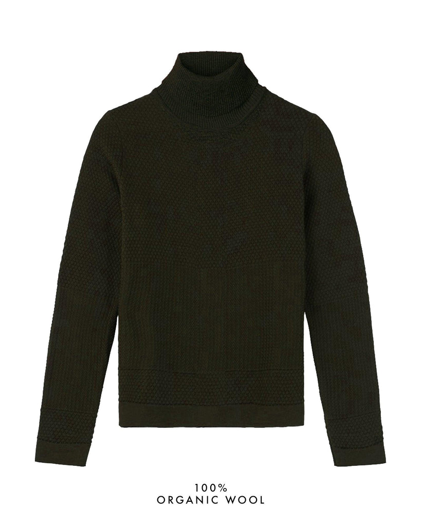 Fiord Seed Turtleneck - Dark Green (Army)