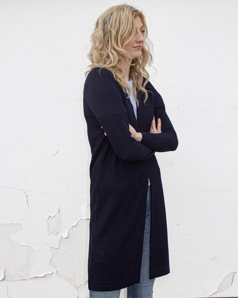 Fiord Seed Long Cardigan - Navy