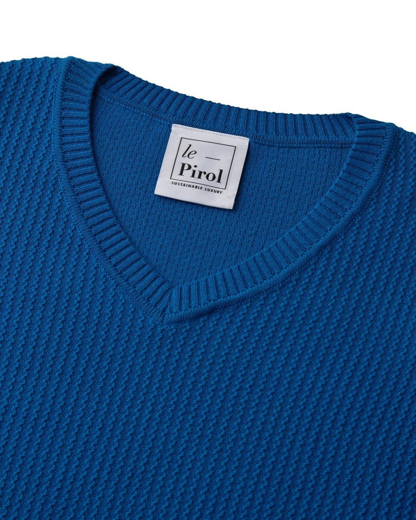 Harvest Cotton Jumper - Blue