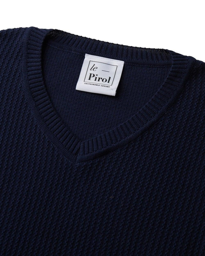 Harvest Cotton Jumper - Navy