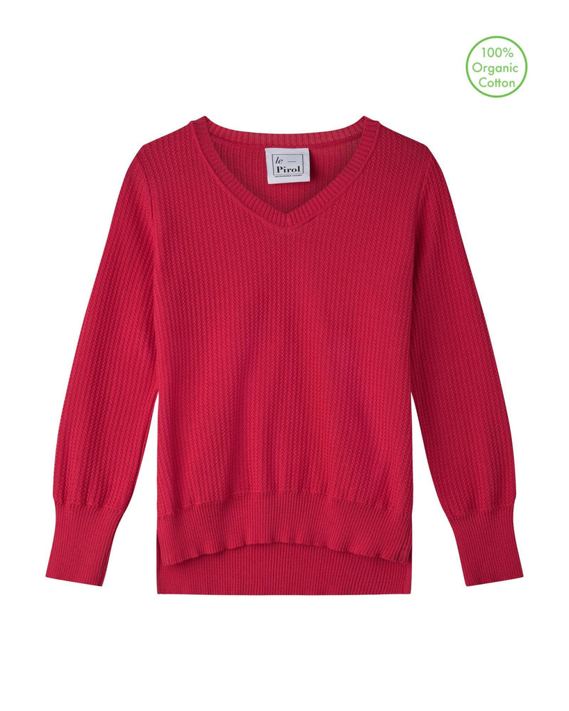Harvest Cotton Jumper - Coral Pink