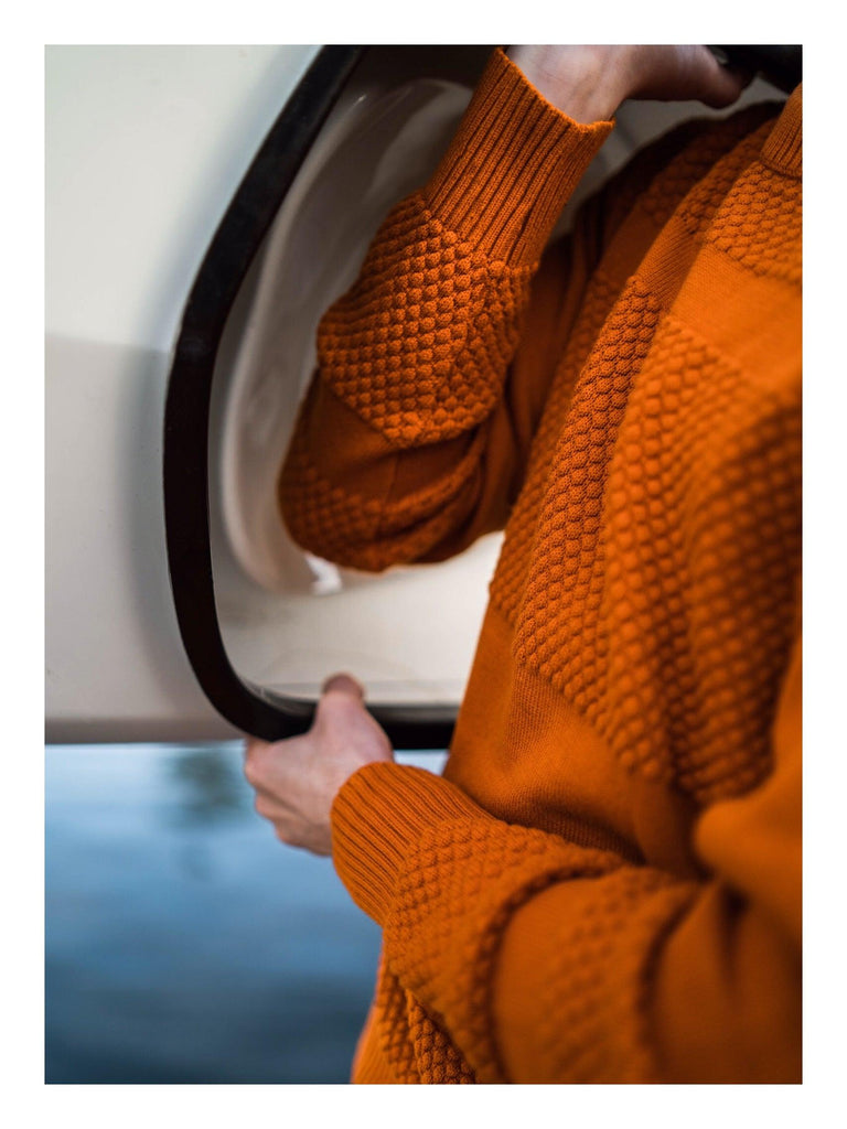 Anker Cotton Jumper - Burnt Orange