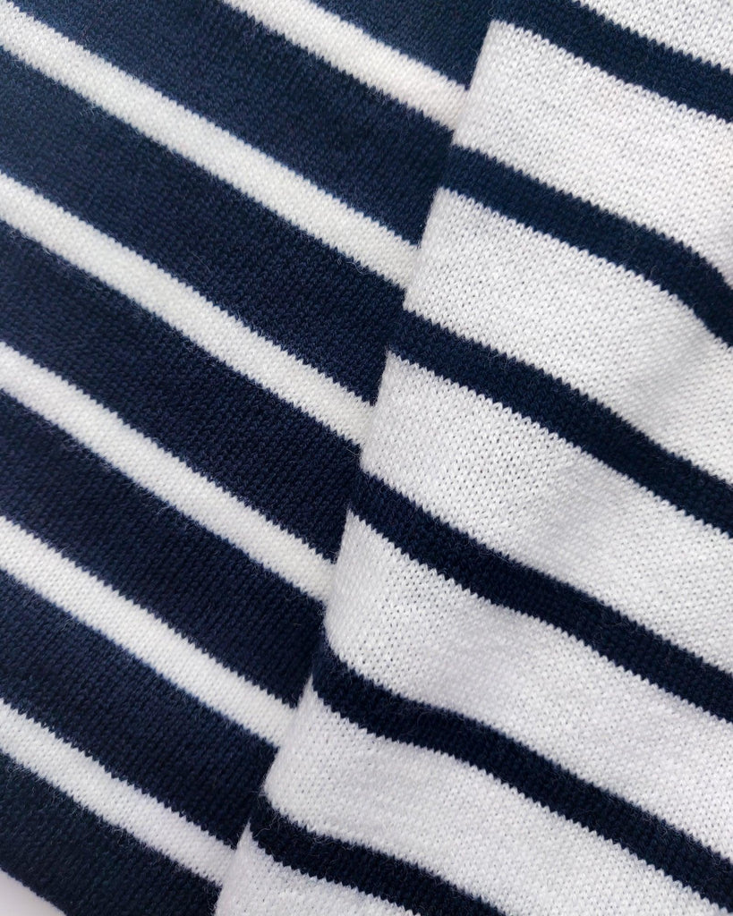 Anker Stripe Scarf - Navy/White
