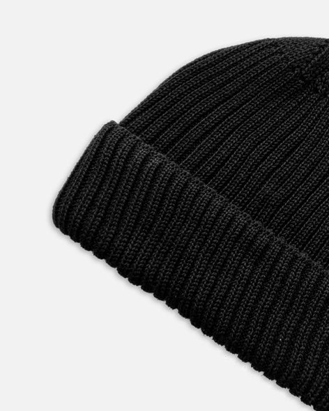 Grain Rib Hat - Black