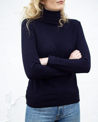 Fiord Seed Turtleneck - Navy
