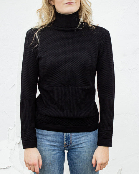 Fiord Seed Turtleneck - Black