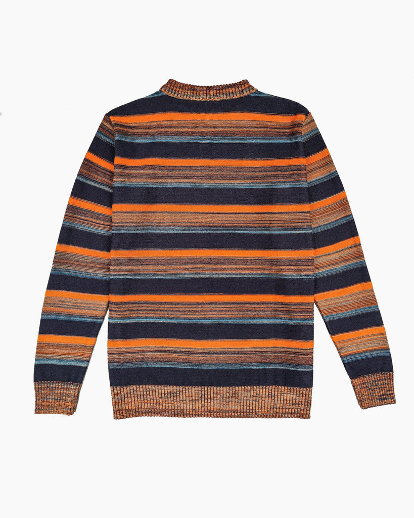 Midnight Grove Cotton Jumper - Navy/Burnt Orange/Blue/Grey