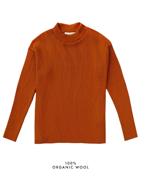 Painters Brush Jumper - Burnt Orange