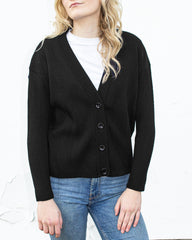 Painters Brush Cardigan - Black