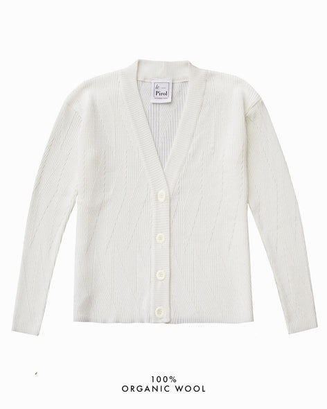 Painters Brush Cardigan - White