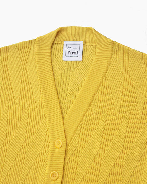 Painters Brush Cardigan - Yellow