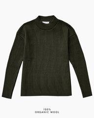 Painters Brush Jumper - Dark Green (Army)